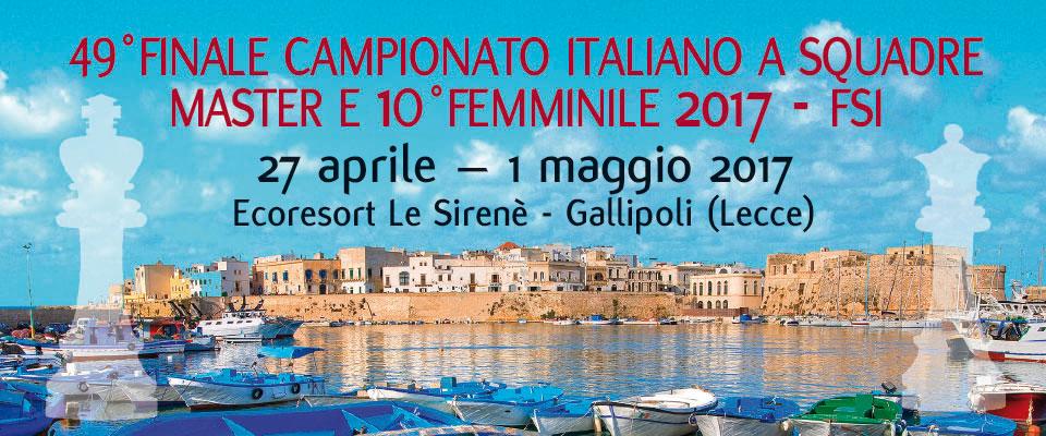 49° Finale Campionato Italiano a Squadre Master e 10° Femminile 2017