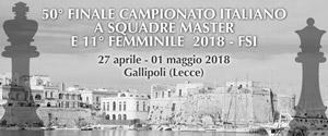 50° FINALE CAMPIONATO ITALIANO A SQUADRE MASTER E 11° FEMMINILE FSI 2018