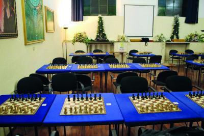 Sala di gioco Accademia Scacchi Milano