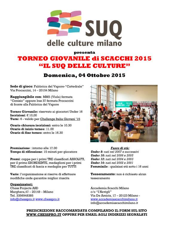 """TORNEO GIOVANILE 2015 """"IL SUQ DELLE CULTURE"""""""