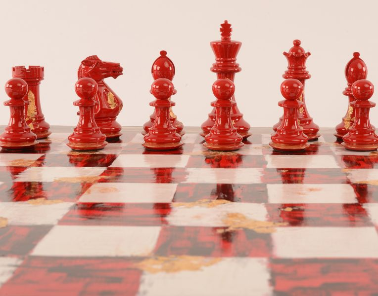 Art Chess by Michelle Hold with board product 3 1200