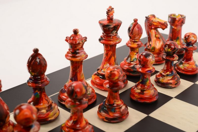 Art Chess by Olivia Pilling Red v Floral 001