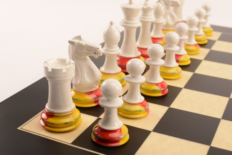 Art Chess by Richard Morrissey No5 Red Yellow Blue 003