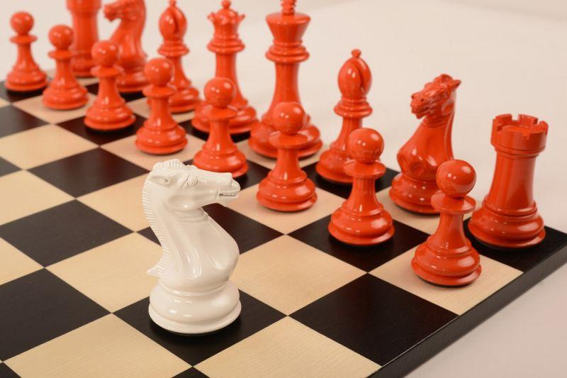 Bold Chess Burnt Orange v Gloss White close up 2 new