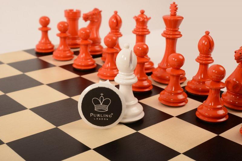 Bold Chess Burnt Orange v Gloss White close up 4 new
