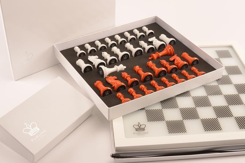 Packaging - Dark Chess in Burnt Orange