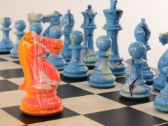 Art Chess Darren MacPherson Blue v Yellow 1 12000