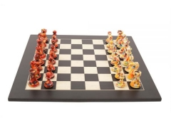 Art Chess by Olivia Pilling Red v Floral 000