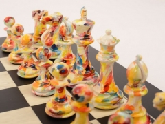 Art Chess by Olivia Pilling Red v Floral 002