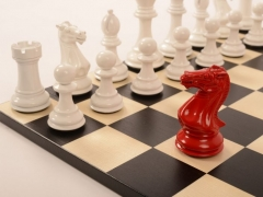 Bold Chess Classic Red v Gloss White close up 2 new