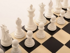 Bold Chess Gloss White close up 4