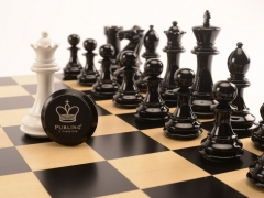 Bold Chess Gloss White v Shadow Black close up 2