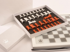 Packaging - Dark Chess in Burnt Orange