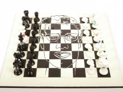 Purling London Art Chess by Daniela Raytchev with board 02