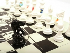 Purling London Art Chess by Daniela Raytchev with board 03