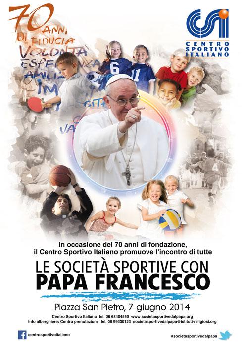 Le società sportive con Papa Francesco
