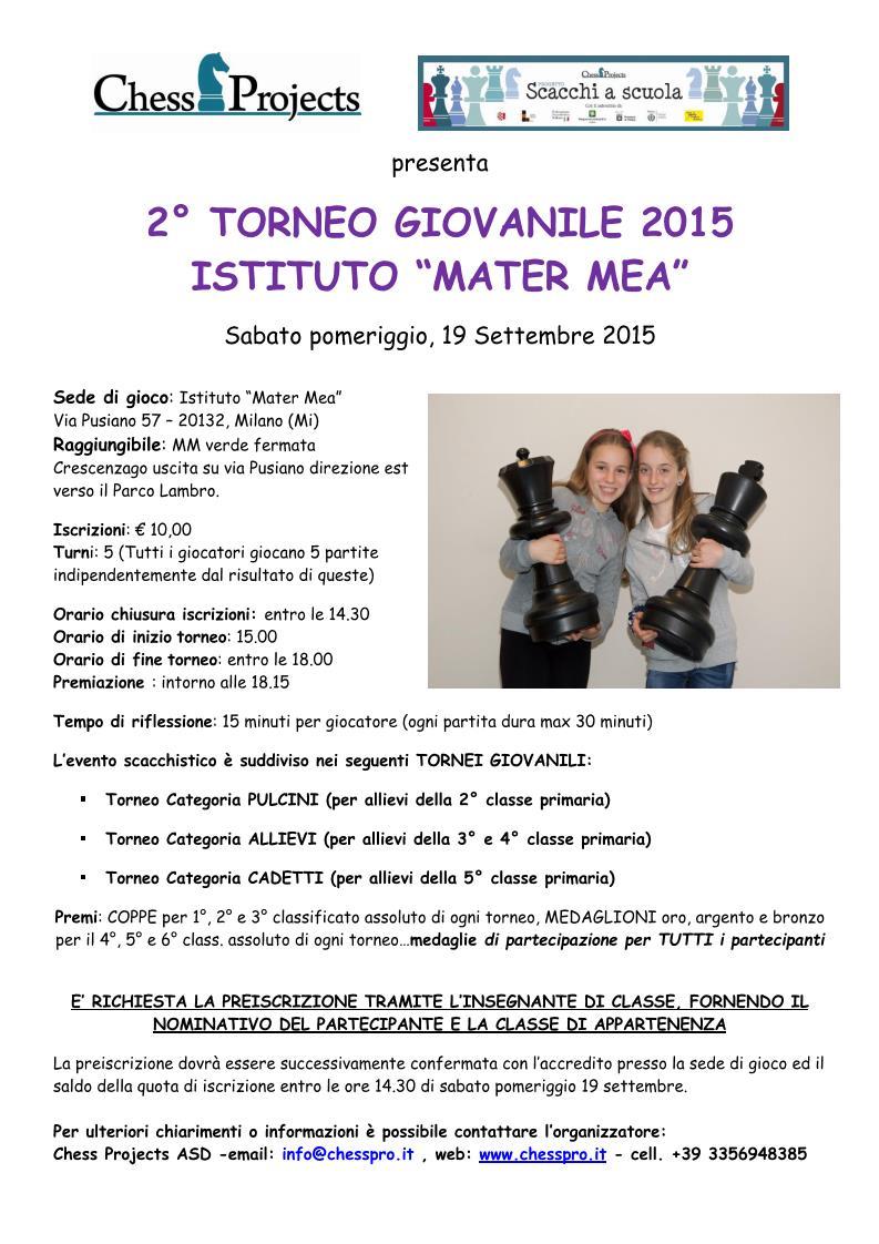 2° Torneo Giovanile Istituto Mater Mea