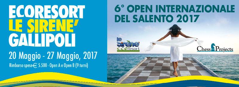 6° OPEN INTERNAZIONALE DEL SALENTO 2017