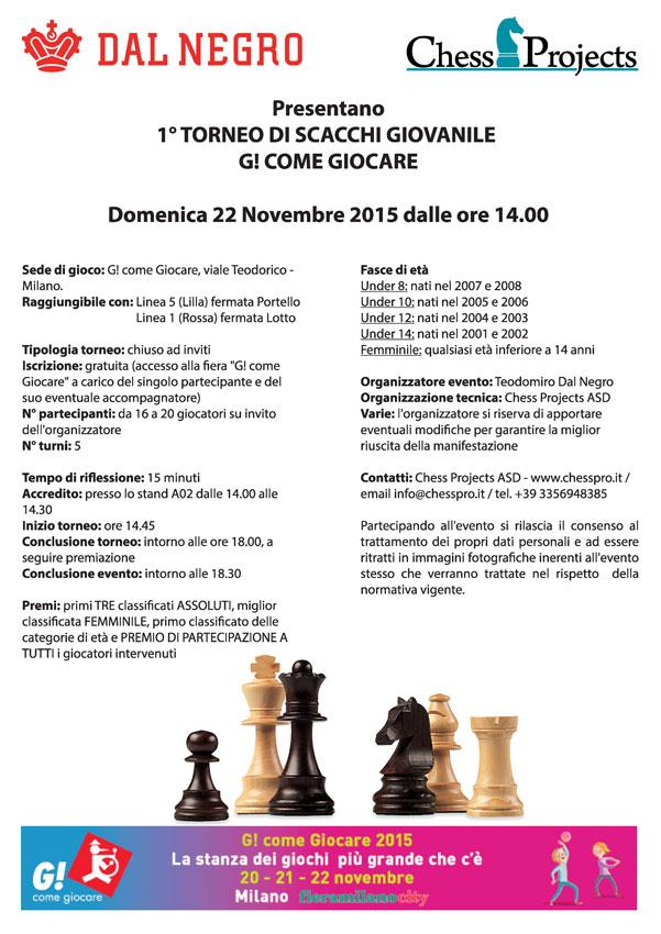 1° Torneo di scacchi giovanile G! COME GIOCARE