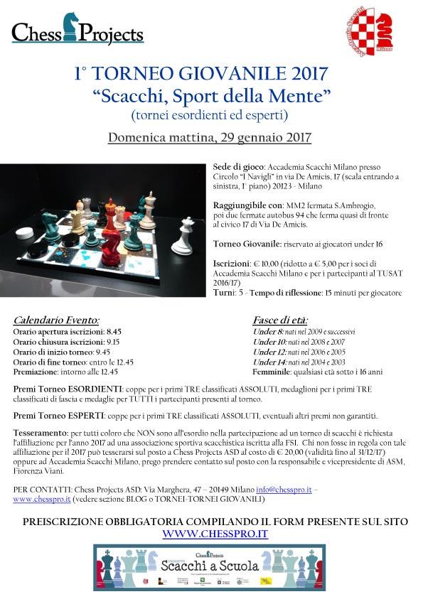 Calendario Tornei Scacchi.1 Torneo Giovanile 2017 Scacchi Sport Della Mente