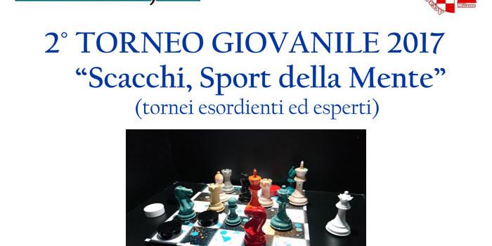 2° TORNEO GIOVANILE 2017 Scacchi Sport della mente