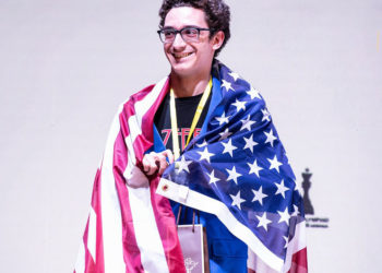 Fabiano Caruana won SILVER MEDAL on board 1!