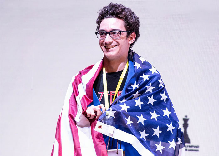 Fabiano Caruana won SILVER MEDAL on board 1!
