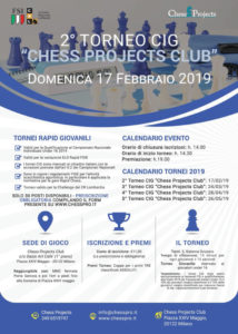 2° TORNEO CIG CHESS PROJECTS CLUB