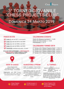3° TORNEO GIOVANILE CHESS PROJECTS CLUB