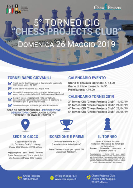 5° TORNEO CIG CHESS PROJECTS CLUB
