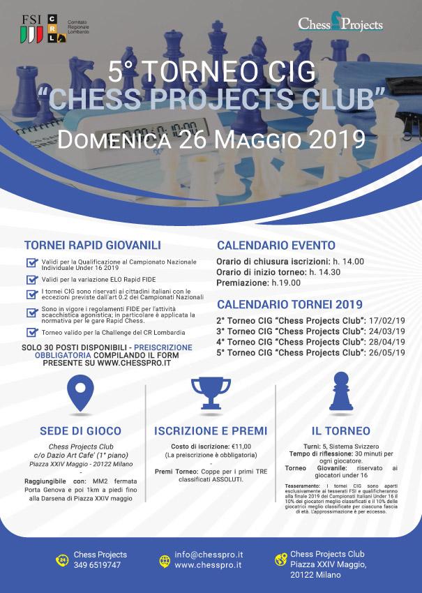 Fsi Scacchi Calendario.Tornei Cig Chess Projects Club 2019 Asd Chess Projects