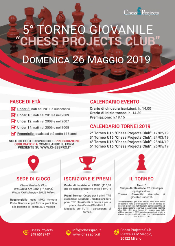 Calendario Tornei Scacchi.Tornei Giovanili Chess Projects Club 2019 Asd Chess Projects