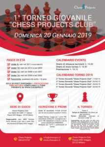 1° TORNEO GIOVANILE CHESS PROJECTS CLUB