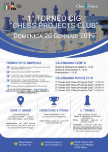 Bando Tornei CIG Chess Projects Club 2019