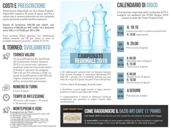 Campionato Regionale Assoluto della Lombardia 2019 e Torneo Rising