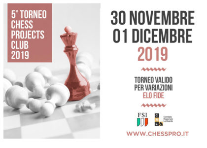 5° TORNEO CHESS PROJECTS CLUB 2019