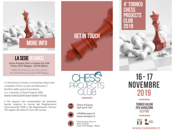 4° TORNEO CHESS PROJECTS CLUB 2019