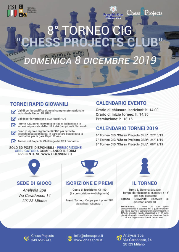 8° TORNEO CIG CHESS PROJECTS CLUB