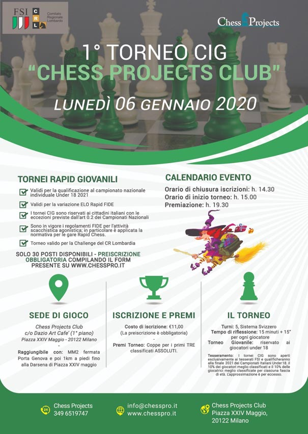 1° TORNEO CIG CHESS PROJECTS CLUB 2020