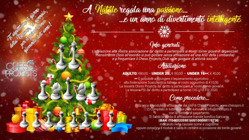 A Natale regala il tesseramento a Chess Projects