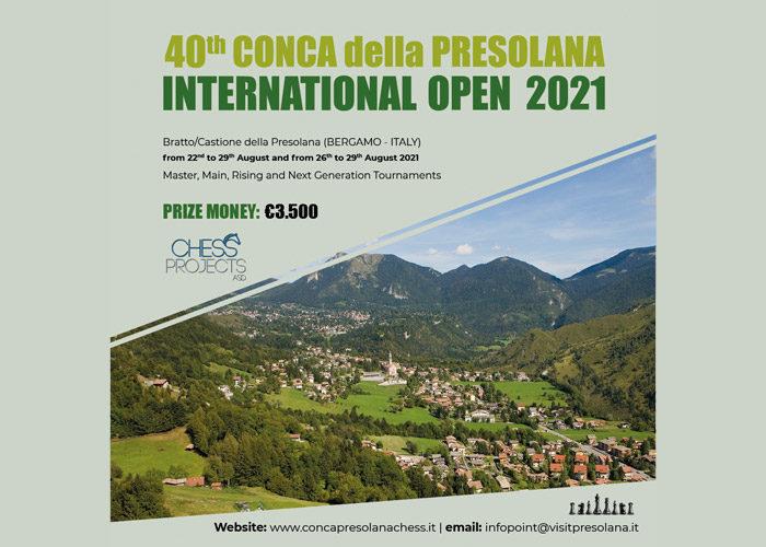 40TH CONCA DELLA PRESOLANA INTERNATIONAL OPEN 2021